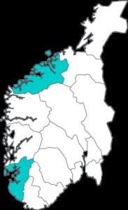 Norsk Dyremat - Norgeskart